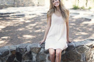 biała sukienka na lato