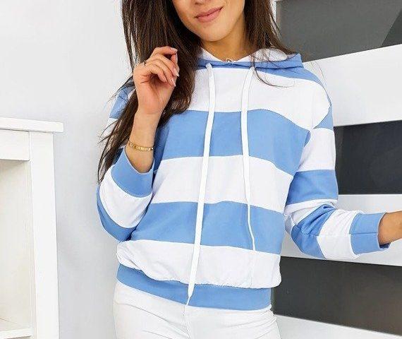 sportowa bluza damska w paski