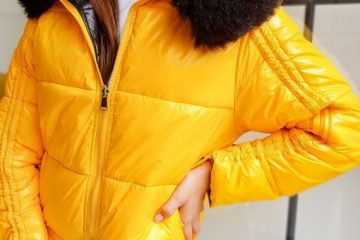modna kurtka damska w kolorze żółtym