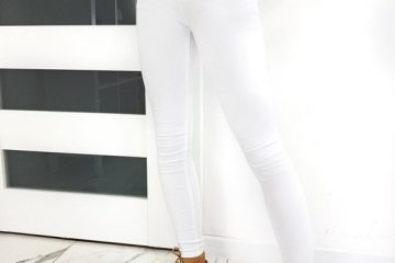 damskie jeansy w kolorze białym Lumene Skinny Fit